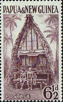 Papua New Guinea 1952 SG 7 Kiriwina Yam House Fine Used Scott 129 Other Papua New Guinea Stamps HERE