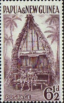 Papua New Guinea 1952 SG 7 Kiriwina Yam House Fine Used Scott 129 Other Papua New Guinea Stamps HERE