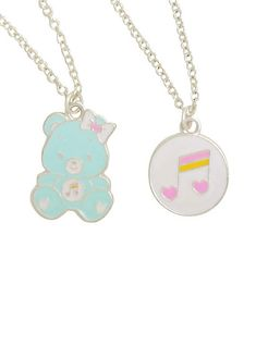 Care Bear Heartsong Bear Double Layer NecklaceCare Bear Heartsong Bear Double Layer Necklace,