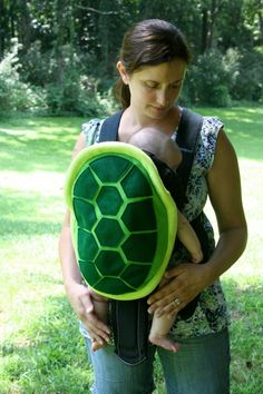 Turtle Shell Baby Carrier Accessory Bjorn Cover. There's ladybugs, too! :o) James would love this