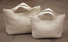 Receitas de Trico e Croche: Bolsas Brancas - da net                                                                                                                                                     Mais
