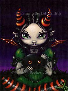 Jasmine Becket Griffith Art Print Signed A Spidery Friend Big Eye Creepy Cute | eBay