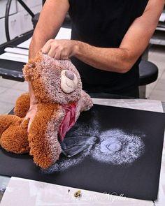 teddybeer-afdruk