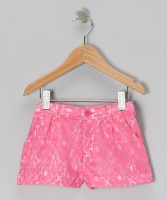 Take a look at this Pink Lace Shorts - Toddler & Girls by Trish Scully Child on #zulily today!