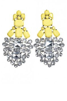 By Malene Birger rhinestone earrings are sunny and sparkly