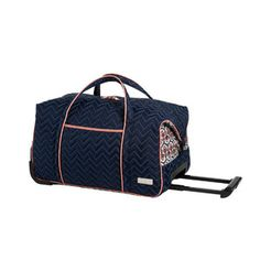 Enter for a chance to win this navy blue travel carry-on rolly bag from Cinda b®! Five lucky winners will each receive a Cinda b® carry-on rolly travel bag in Neptune (dark blue). (Approx. retail value: $179.00). CindaB.com