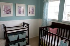 """""""Teal/Aqua/Turquoise/Blue-ish Green"""" Baby Girls Nursery, I really didnt want the cookie cutter baby nursery, as matchy-matchy is just not my..."""
