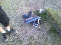 Super Cub crash landed in such a nice pile.... hahaha tape and glue here we come