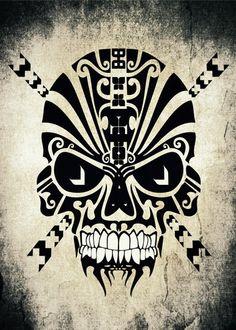'The Devil Inside - Cool Skull Vector Art' by Denis Marsili on artflakes.com as poster or art print $17.46