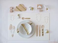 xmas placemat by La maison de Loulou-blog