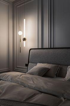 Home Room Design, Interior Design Studio, Bed Design, House Design, Design Apartment, Apartment Interior, Luxury Interior, Interior Architecture, Neoclassical Interior