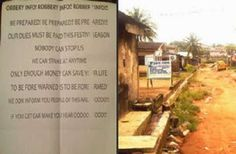 Armed Robbers Write a Warning Letter To Ogun Residents, Tell Them We don't want excuses,Keep our Christmas Money, Gift At Home
