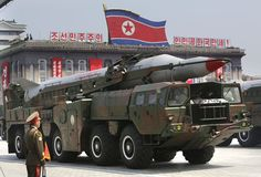 A missile is carried by a military vehicle during a parade to commemorate the 60th anniversary of the signing of a truce in the 1950-1953 Korean War, at Kim Il-sung Square in Pyongyang July 27, 2013. REUTERS/Jason Lee (NORTH KOREA - Tags: POLITICS MILITARY ANNIVERSARY) via @AOL_Lifestyle Read more: https://www.aol.com/article/news/2017/04/11/north-korea-threatens-us-with-nuclear-strike-as-american-warships-approach/22035090/?a_dgi=aolshare_pinterest#fullscreen