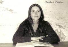 Retrato de María do Catacó na escola. Cedida por Ezaro.com
