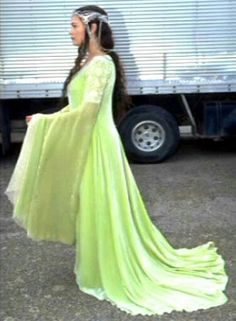 Arwen coronation gown behind the scenes