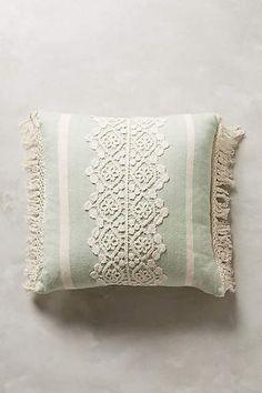 Victoriana Fringe Pillow - anthropologie.com