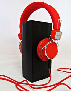 I Kool Comfort Plus Original Series Limited Edition Cushioned Headphones Red