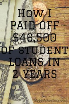 How Even Steven paid of $46,500 of student loans in 2 years! You CAN do it! http://www.budgetsaresexy.com/2015/07/tips-paying-off-student-loan-debt/