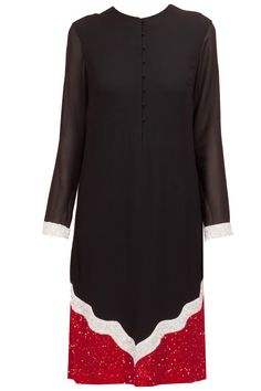 Black sequinned mughal window kurta available only at Pernia's Pop-Up Shop.