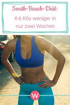 Du möchtest in nur zwei Wochen sechs Kilo verlieren? Mit der South-Beach-Diät geht das. #diät #abnehmen #diättipps
