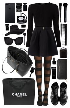 """""""Martina"""" by nicole-288 ❤ liked on Polyvore featuring MICHAEL Michael Kors, FAUSTO PUGLISI, Cushnie Et Ochs, Kenzo, Chanel, San Diego Hat Co., Delalle, Victoria's Secret, GHD and Givenchy"""