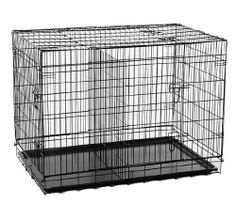 """HOMCOM 48"""" 2 Door Folding Dog Cage Crate Pet Crate Portable House Large Size - http://www.thepuppy.org/homcom-48-2-door-folding-dog-cage-crate-pet-crate-portable-house-large-size/"""