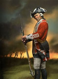 SYW- Britain: British Infantry Seven Years War, by Don Seegmiller. 64th (2nd Staffordshire) Regiment of Foot, 1758.