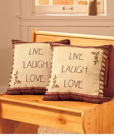 Live Love Laugh Tapestry Pillow Country Home Decor Throw Pillow Sofa Chair 1