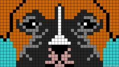 Boxer dog crochet graph c2c graphgan pattern