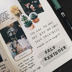 "27 Likes, 2 Comments - ✨Art Journal & Planner✨ (@seasonjours) on Instagram: ""#selfreminder on @moleskine_world #planneraddict #bujo ✍✨"""