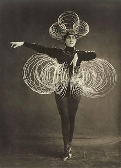 Karl Grill active at the Bauhaus 1920-29, Spiral costume, from the 'Triadic ballet', c.1926-27 gelatin silver photograph 22.5 x 16.2 cm J Paul Getty Museum, Los Angeles Photo The J Paul Getty Museum, Los Angeles