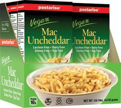 Check out our review of Mac Uncheddar on Moody Mama Says! http://www.moodymamasays.com/review-of-pastarisos-vegan-mac-uncheddar