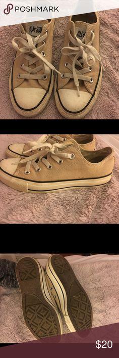 Tan Converse Tan Converse shoes Converse Shoes Sneakers