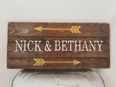 Custom personalized name rustic shabby chic wood by ShamShack