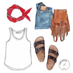 Good objects - Classic summer essentials #goodobjects #watercolor #illustration
