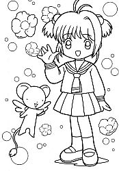 51 Best Crafty Card Captor Sakura Coloring Images On Pinterest