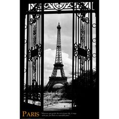 paris poster for the guest bedroom