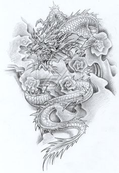 Chinese+Dragon+Drawings | tattoo-Dragon by ~CopulationContro1987 on deviantART