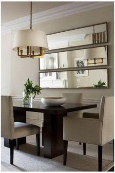 Dining Room Wall Decor, Living Room Mirrors, Dining Room Design, Decor Room, Dining Rooms, Art Decor, Mirror For Dining Room, Kitchen Decor, Dining Tables