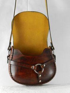 Latigo cuero bandolera hecha a mano teñida a por KawValleyLeather