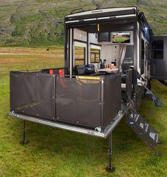 Toy Hauler Trailers, Toy Hauler Camper, Cargo Trailer Camper, Camper Storage, Bus Camper, Cargo Trailers, Pickup Camper, Tiny Camper, Trailer Build