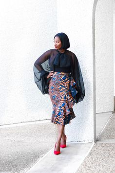 Flair By Ashi - Shop Stylish Women's African Print and Ankara Clothing African Wear, African Women, African Dress, African Fashion, African Style, Ankara Fashion, Ankara Skirt And Blouse, Ankara Dress, Midi Skirt