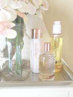 Argan Exfoliating Cleansing Powder, Nirvana Hydrating Mist, and Argan Cleansing Oil by Josie Maran Cosmetics