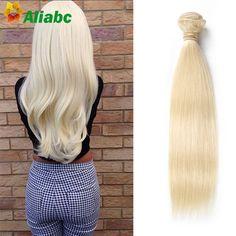 "blonde hair bundles 613 Brazilian hair straight 1 piece human virgin hair weave 18 ""-24"" color 613 blonde virgin hair extensions"