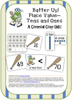 Math Coach's Corner: Batter Up!! A Common Core Place Value Unit