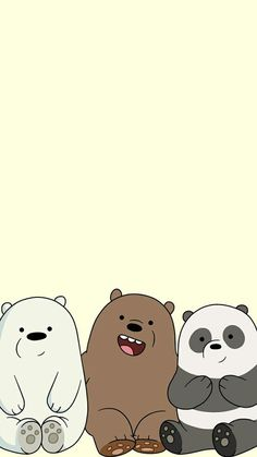 Discovered by moonchild. Find images and videos about pastel, cartoon and we bear bears on We Heart It - the app to get lost in what you love. Cute Panda Wallpaper, Cartoon Wallpaper Iphone, Bear Wallpaper, Cute Disney Wallpaper, Kawaii Wallpaper, We Bare Bears Wallpapers, Panda Wallpapers, Cute Cartoon Wallpapers, Ice Bear We Bare Bears