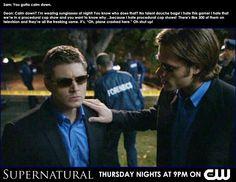 Supernatural - Dean's not a fan of CSI
