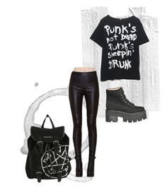 """sleepy punk"" by effing-justice on Polyvore featuring Jeffrey Campbell, women's clothing, women, female, woman, misses and juniors"