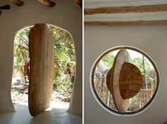 I think this is just brilliant if you want artistic and unusual doors/windows and openings...especially when building earthen homes where much of the homes are hand sculpted..using reclaimed wood, this would really be practical and beautiful ♥    Build green! Jeri  Blue Wolf Reiki