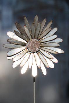 Single Metal Flower by CWMetalWorks on Etsy, $19.00